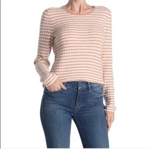 Madewell Colette striped wool blend sweater